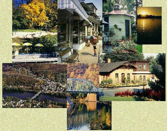 Large collage of local sights.